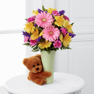 Valentine's Bouquet with Teddy Bear