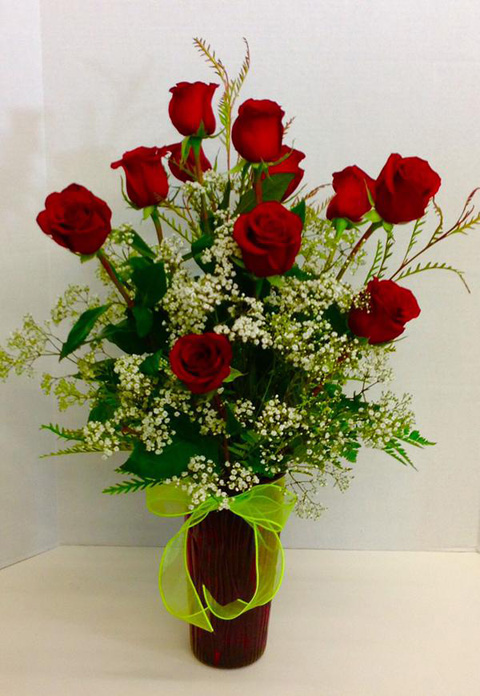 Red rose floral arrangement