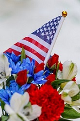 Floral Arrangement for Memorial Day